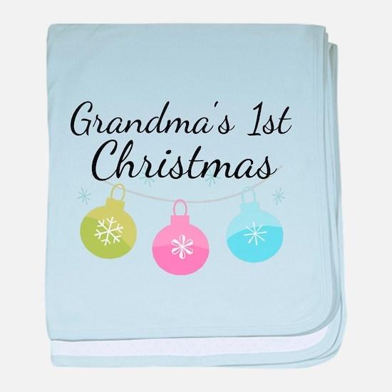 Grandma's 1st Christmas baby blanket