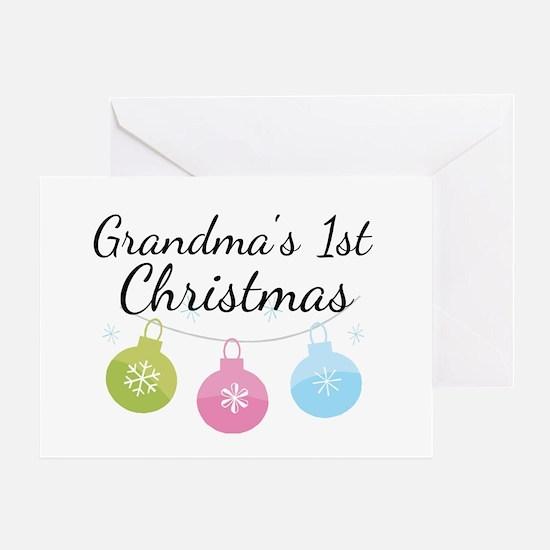 Grandma's 1st Christmas Greeting Card