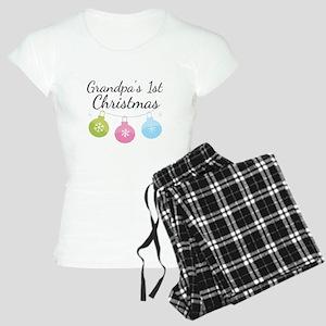 Grandpa's 1st Christmas Women's Light Pajamas