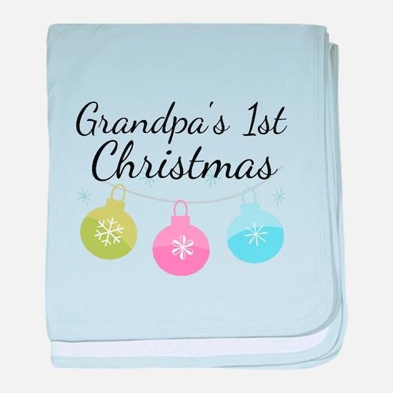 Grandpa's 1st Christmas baby blanket