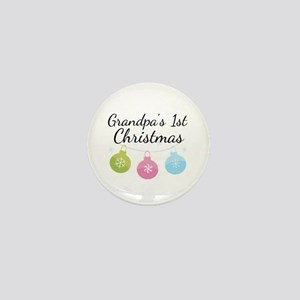 Grandpa's 1st Christmas Mini Button