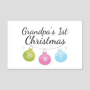 Grandpa's 1st Christmas Mini Poster Print