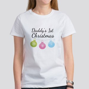 Daddy's 1st Christmas Women's T-Shirt