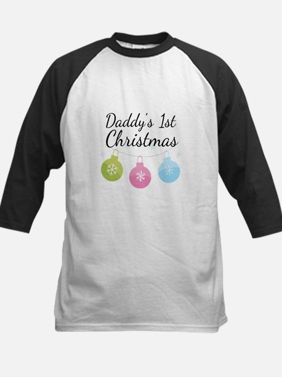 Daddy's 1st Christmas Kids Baseball Jersey