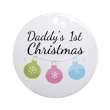 Babys first christmas 2018 Round Ornaments