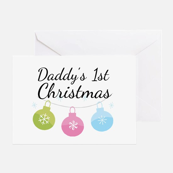 Daddy's 1st Christmas Greeting Card