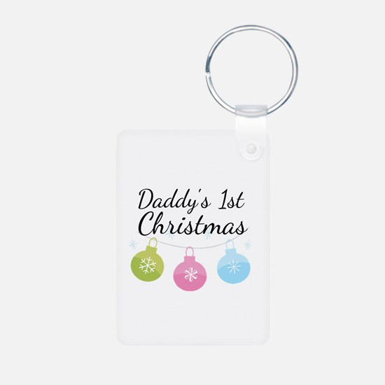 Daddy's 1st Christmas Keychains