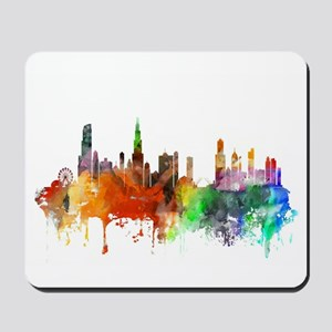 Chicago Skyline Watercolor Mousepad