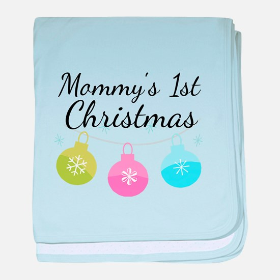 Mommy's 1st Christmas baby blanket