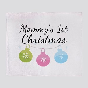 Mommy's 1st Christmas Throw Blanket