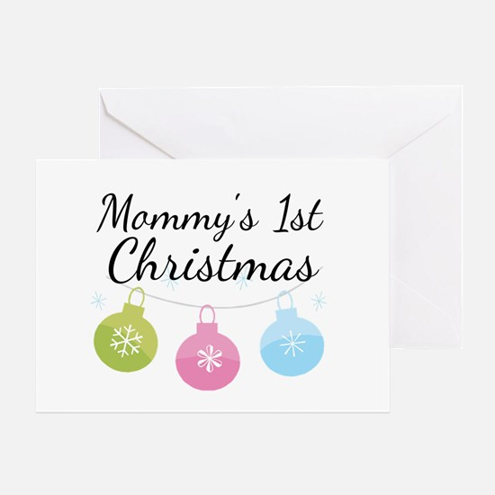 Mommy's 1st Christmas Greeting Card