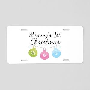Mommy's 1st Christmas Aluminum License Plate