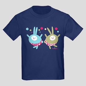 Dancing Bunnies Kids Dark T-Shirt