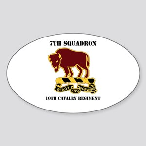 DUI - 7th Sqdrn - 10th Cavalry Regt with Text Stic