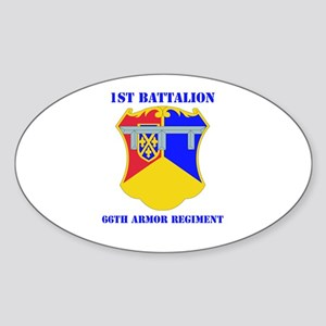 DUI - 1st Bn - 66th Armor Regt with Text Sticker (
