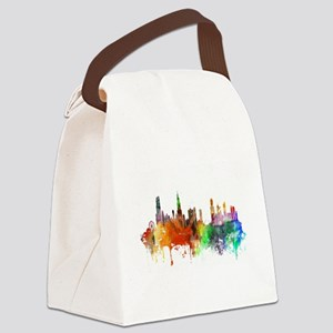 Chicago Skyline Watercolor Canvas Lunch Bag