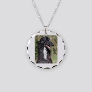 Afghan Hound AA017D-101 Necklace Circle Charm