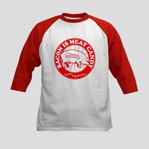 Bacon Is Meat Candy Kids Baseball Jersey