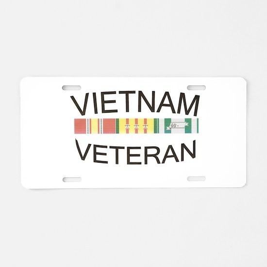 Unique Vietnam veteran Aluminum License Plate