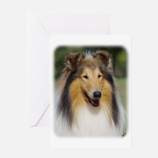 Collie Rough AA011D-031 Greeting Card
