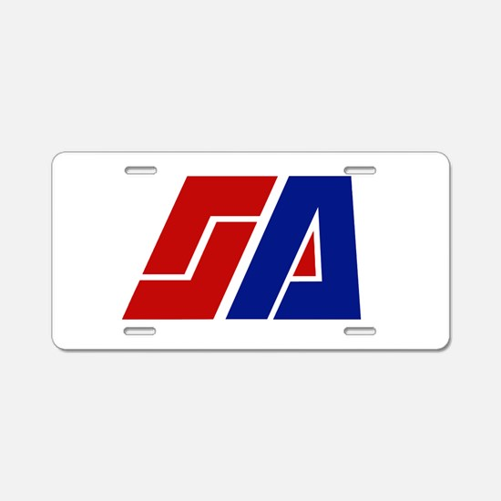 Space Academy Aluminum License Plate