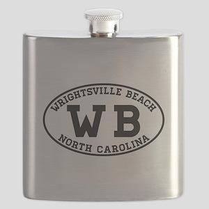 WRIGHTSVILLE BEACH NORTH CAROLINA EURO OVAL Flask