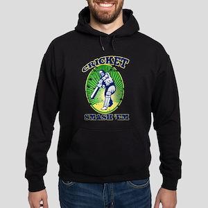 cricket batsman retro Hoodie (dark)