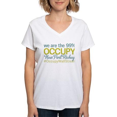 Occupy New Port Richey Women's V-Neck T-Shirt
