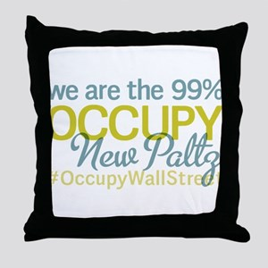 Occupy New Paltz Throw Pillow