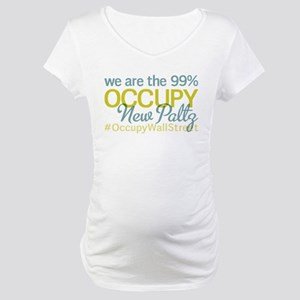 Occupy New Paltz Maternity T-Shirt