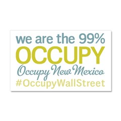 Occupy New Mexico Car Magnet 20 x 12