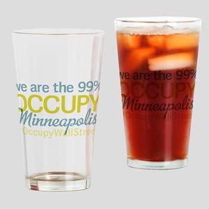 Occupy Minneapolis Drinking Glass
