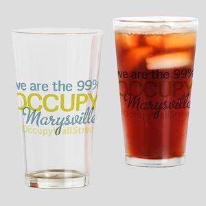 Occupy Marysville Drinking Glass