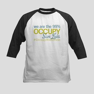Occupy San Luis Obispo Kids Baseball Jersey