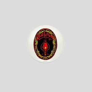 Red Light Cigar Label Mini Button