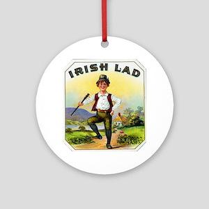 Irish Lad Cigar Label Ornament (Round)