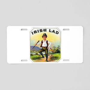 Irish Lad Cigar Label Aluminum License Plate