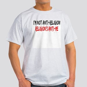 I'm Not Anti-Religion Ash Grey T-Shirt