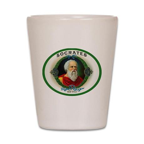 Socrates Cigar Label Shot Glass