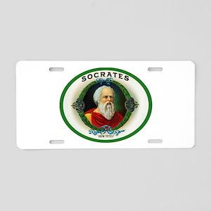 Socrates Cigar Label Aluminum License Plate