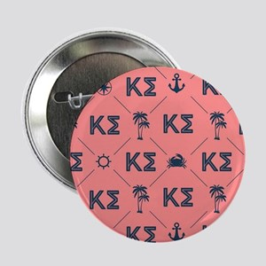 "Kappa Sigma Coral Pattern 2.25"" Button"