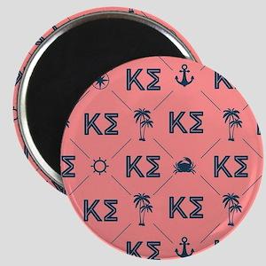 Kappa Sigma Coral Pattern Magnet