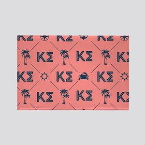 Kappa Sigma Coral Pattern Rectangle Magnet