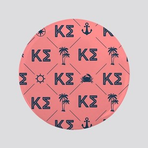 Kappa Sigma Coral Pattern Button
