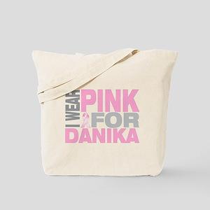 I wear pink for Danika Tote Bag