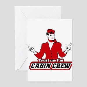 Trust Me I'm Cabin Crew Greeting Card