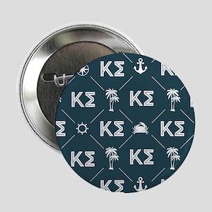 """Kappa Sigma Blue Pattern 2.25"""" Button"""