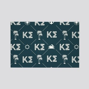 Kappa Sigma Blue Pattern Rectangle Magnet