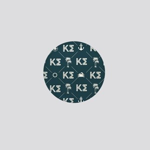 Kappa Sigma Blue Pattern Mini Button