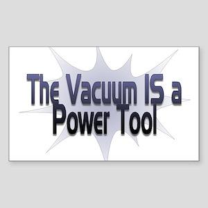 Vacuum Power Tool Rectangle Sticker